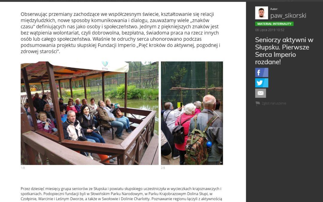 Seniorzy aktywni w Słupsku. Pierwsze Serca Imperio rozdane!